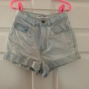 NWOT American Apparel High Waisted Cuff Shorts